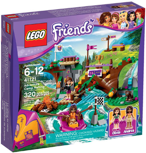 LEGO Friends 41121 Adventure Camp Rafting Mixed Set New In Box Sealed  41121
