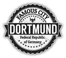 "Dortmund City Germany Grunge Travel Stamp Car Bumper Sticker Decal 5"" x 4"""