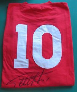 Sir Geoff Hurst Signed England 1966 Replica No10 Shirt Unframed ... 422309e66