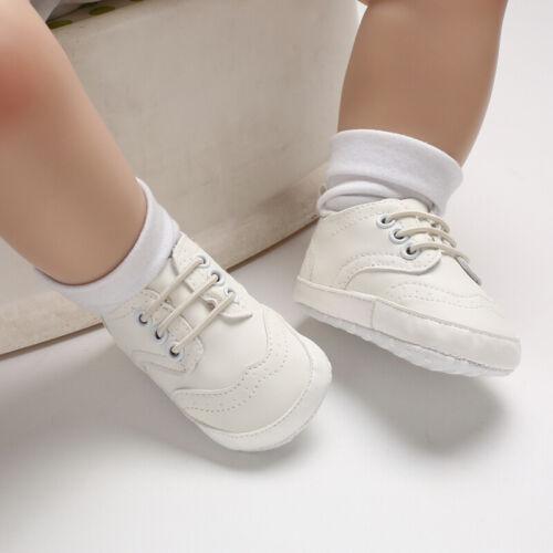 Fashion Hot Baby Boy Oxford Crib Shoes Pre Walking Trainers Newborn to 18 Months