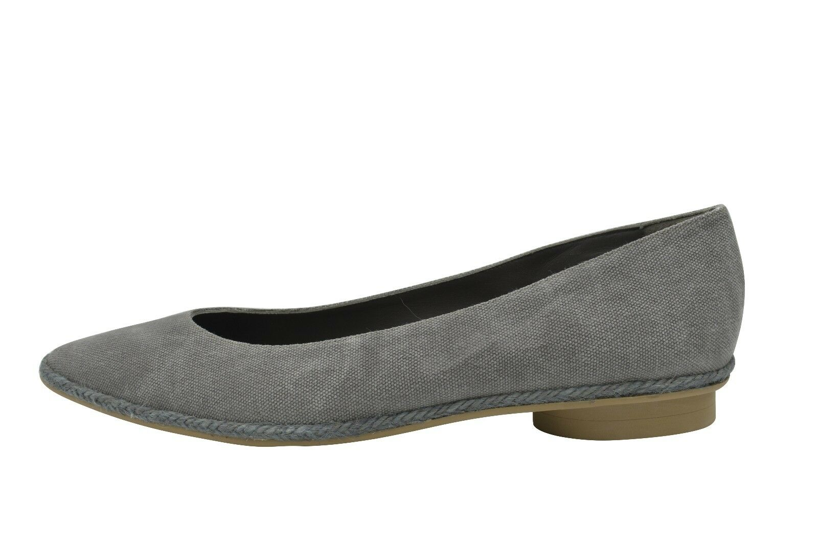 Castaner Women's Gray Pointy Canvas Flats Shoes 41