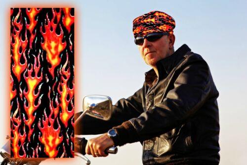 "Tube Headband Bandana Scarf Doo Rag NEW ""BIKER FLAMES"" Multi Purpose Skull Cap"