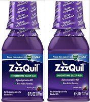 Zzzquil Nighttime Sleep Aid Liquid 6 Oz ( 2 Pack ) Priority Ship