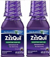 Zzzquil Nighttime Sleep Aid Liquid 6 Oz ( 2 Pack ) Priority Ship