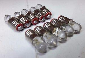 10x-12V-E5-LES-LED-Miniature-Filament-Replacement-Screw-Dolls-House-Light-Bulbs
