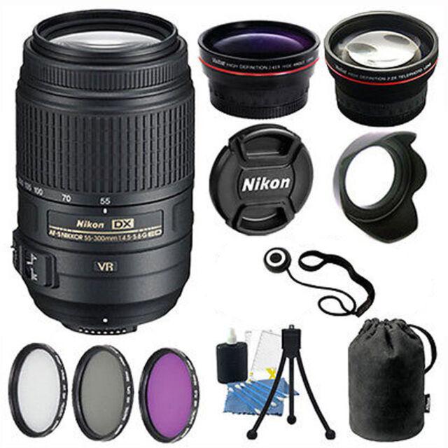Nikon 55-300 VR Lens Kit for Nikon D3200 D3300 D5200 D5300 Digital SLR  Camera