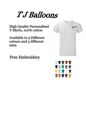 Embroidered Custom T-Shirts Unisex Personalised  Workwear Any event