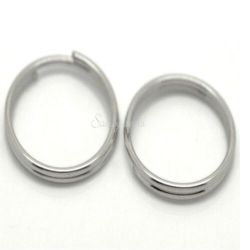 25x  silver tone 16mm SPLIT RINGS  keyring sp 16mm silver chain 1ST CLASS POST