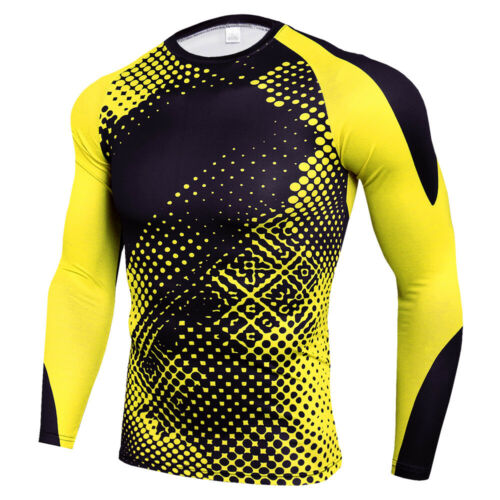 Men/'s Cool Dry Athletic Compression Long Sleeve Baselayer Workout T-Shirts Camo