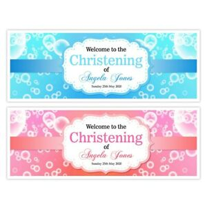 Personalised Boy Girl Christening Baptism Naming Day thank you notes bunting