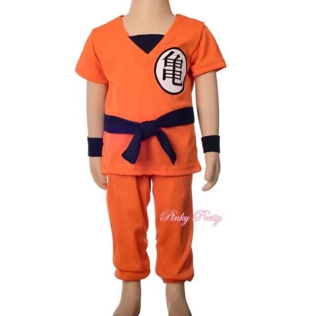 Dragon Ball Z Son Goku Costume Fancy Party Outfit Halloween Child Age 5-6yr #  sc 1 st  eBay & Dragon Ball Z Son Goku Costume Fancy Party Outfit Halloween Child ...