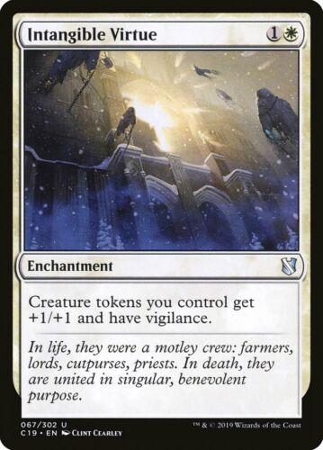 MTG Magic Card Intangible Virtue Commander Uncommon C19 #67 Mint