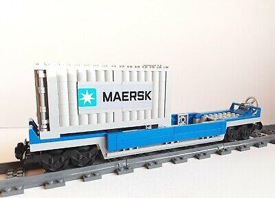 Figure 60052//60098//7939//3677 Lego City Blue Cargo Train Cattle Car
