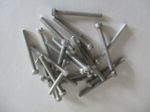 """Lot of 25 AN500-6-20 Fillister Slotted Machine Screw 6-32 x 1 1//4/"""" Steel"""