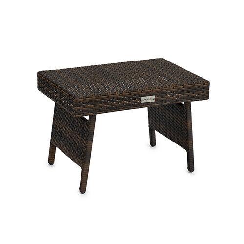 MARRON pliable en osier rotin side table basse Patio Jardin Meubles d/'extérieur