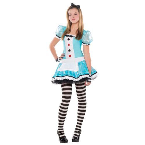 CLEVER ALICE IN WONDERLAND GIRLS INC TEENAGE SIZE HALLOWEEN FANCY DRESS COSTUME