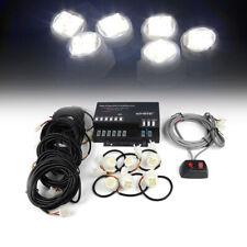 Xprite 6x Led Strobe Light Kit Hide A Way White Side Marker Dirving Work Lamp
