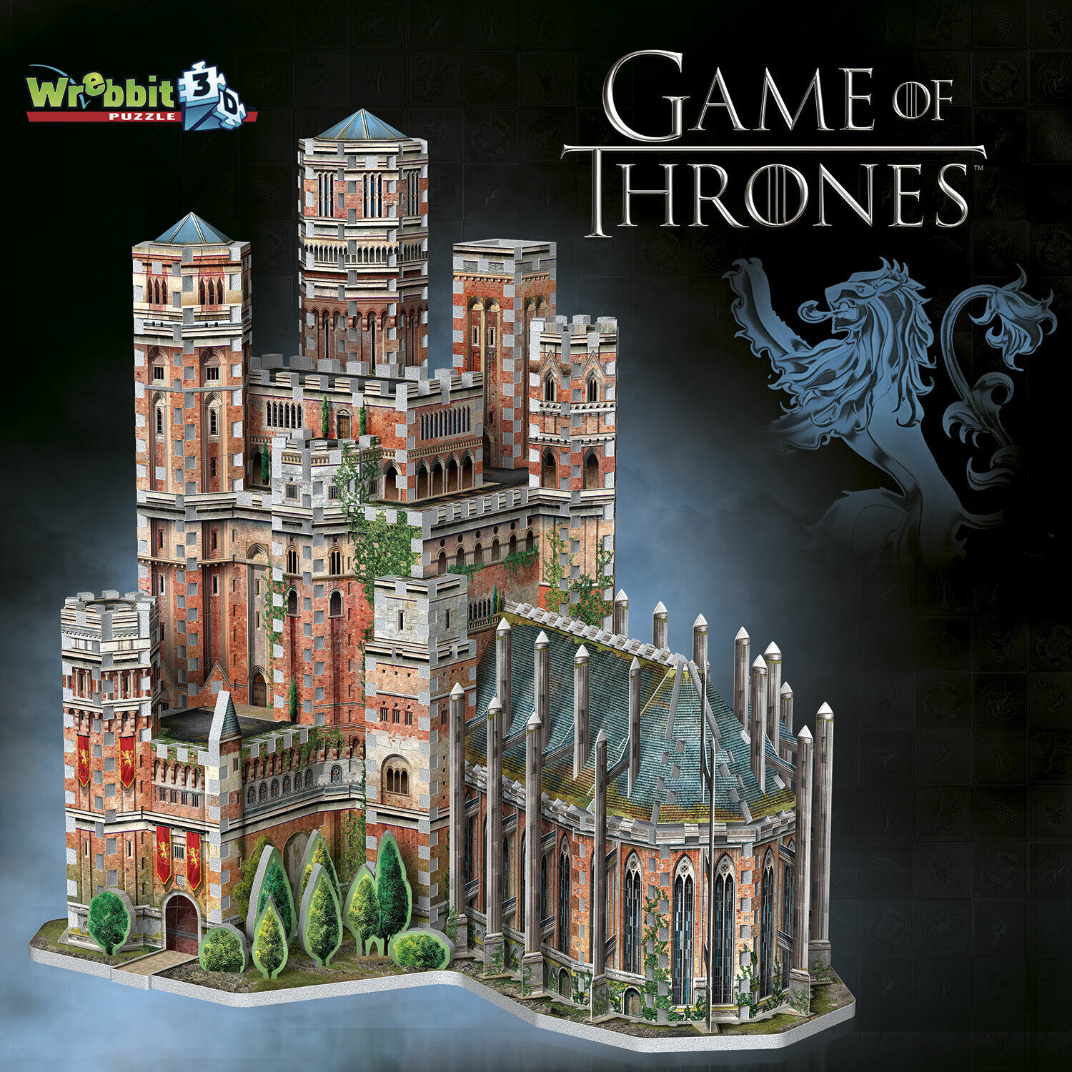The rot Keep - Game of Thrones  3 D Puzzle 845 Teile v. WREBBIT (34549) NEU