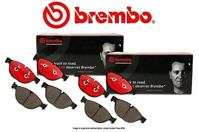 FRONT+REAR BREMBO NAO Premium Ceramic Disc Brake Pads BB96211