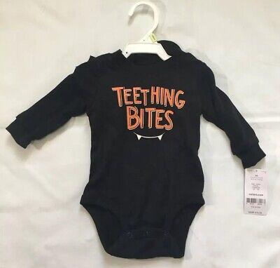 Carter/'s 3 Month Baby Teething Bites Bodysuit /& Bat Hat Set Halloween vampire