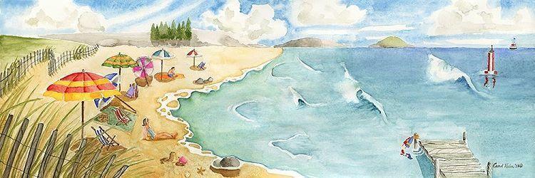 Carol Halm  Sand and Surf Keilrahmen-Bild Leinwand Strand Urlaub Ferien Meer