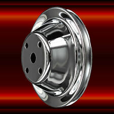 Chrome Single Groove Water Pump Pulley For Sb Chevy With Long Water Pump Sbc