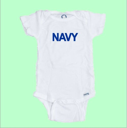 NAVY  Custom Printed Onesie Bodysuit Great baby shower Gift