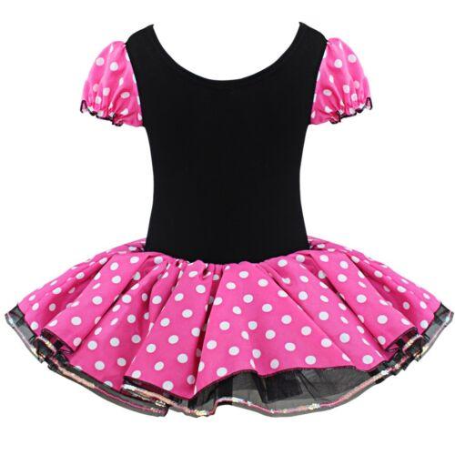Kids Baby Girls Cartoon Mouse Costume Princess Tutu Skirt Fancy Dress Toddler