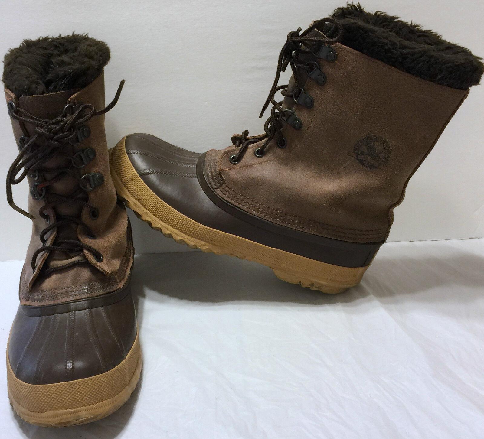 Sorel Dark Braun Eddie Bauer Insulated Stiefel Größe 8 Winter Snow Liner Warm k