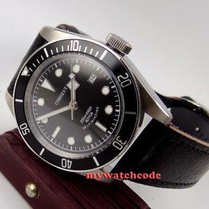 41mm-CORGUET-sterile-dial-date-Sapphire-Glass-japan-miyota-Automatic-mens-Watch