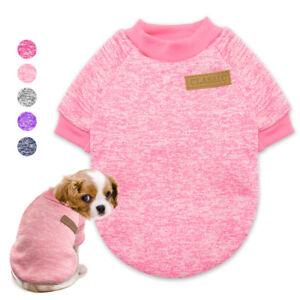 Hundepullover-Winter-Sanft-Chihuahua-Kleidung-Stricken-Pullover-fuer-Katzen-XS-L