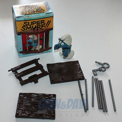 Puffo Puffi Smurf Smurfs Schtroumpf 4.0212 40212 Smurf In Cage Gabbia Box 3a Originale Al 100%