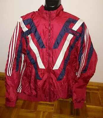 Vtg adidas Originals Windbreaker Size XL-XXL D8 192 Rain Training Jacket MINT