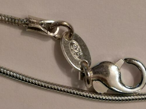 """20/"""" and 22/"""" Sterling Silver Snake chain necklace 1.2 mm thick lengths 16/"""" 18/"""""""