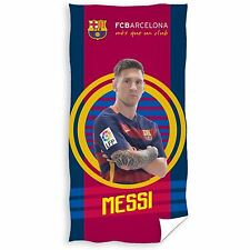 FC BARCELONA MESSI TARGET TOWEL 100% COTTON KIDS FOOTBALL FAN OFFICIAL FREE P+P
