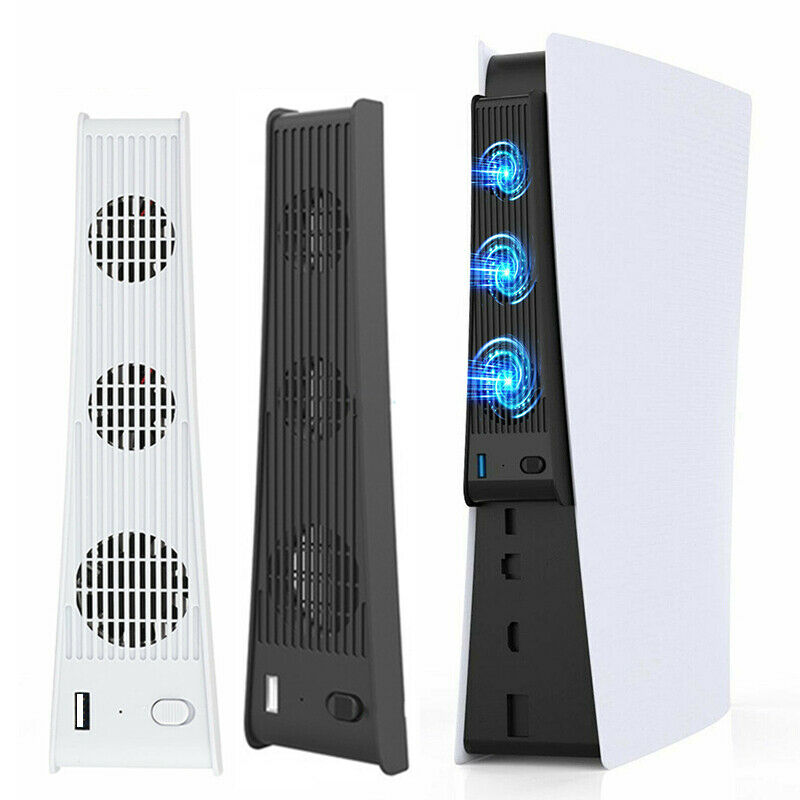 For PS5 Gaming Console Host Cooling Fan Cooler Game External Accessories