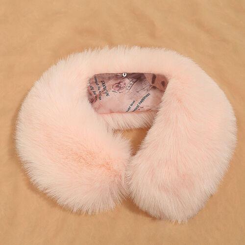 Luxus Frauen Damen Winter Kaninchenfell Schal Halswärmer Wrap Kragen Schal Stola
