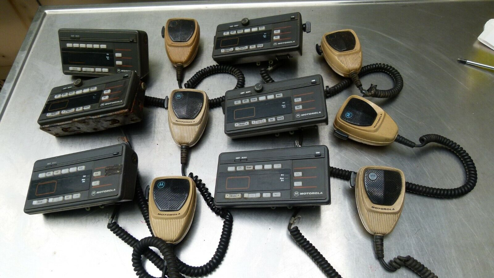 Lot of 6 - Motorola Control Head MaraTrac HCN1052B with Microphone. Available Now for 89.99