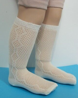 "CREAM Mesh Fishnet Type Doll Knee Socks Fits 23/"" My Twinn Poseable Debs"