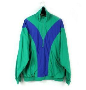 1995 SCHNEIDER vintage half zip track jacket windbreaker sweatshirt 90s L