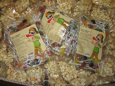 1000 St. Popcorn - Lolly Wurfmaterial Karneval Fasching Kamelle Lutscher