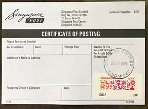 Singapore-2019-Cert-of-Posting-First-Day-Use-Zodiac-SAM-ATM-stamp
