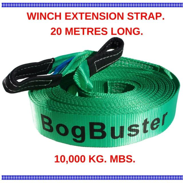 Winch Extension Strap Rope Bogbuster 20 Meter 10000 Kg Tow