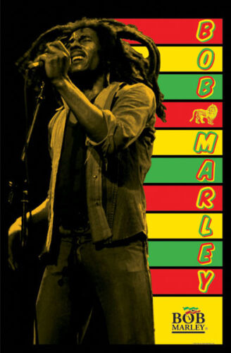 Bob Marley Blacklight 24x36 Poster BLACK LIGHT Rasta Reggae Jamaica NEW ICON BUD