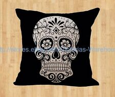 Day of the Dead sugar skull cushion cover discount decorative pillow cover
