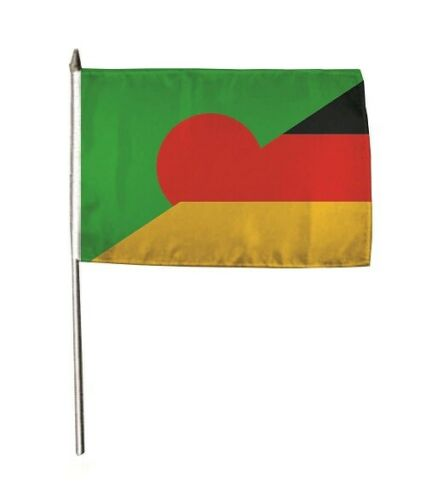 Stockflagge Fahne Flagge Bangladesch-Deutschland 30 x 45 cm