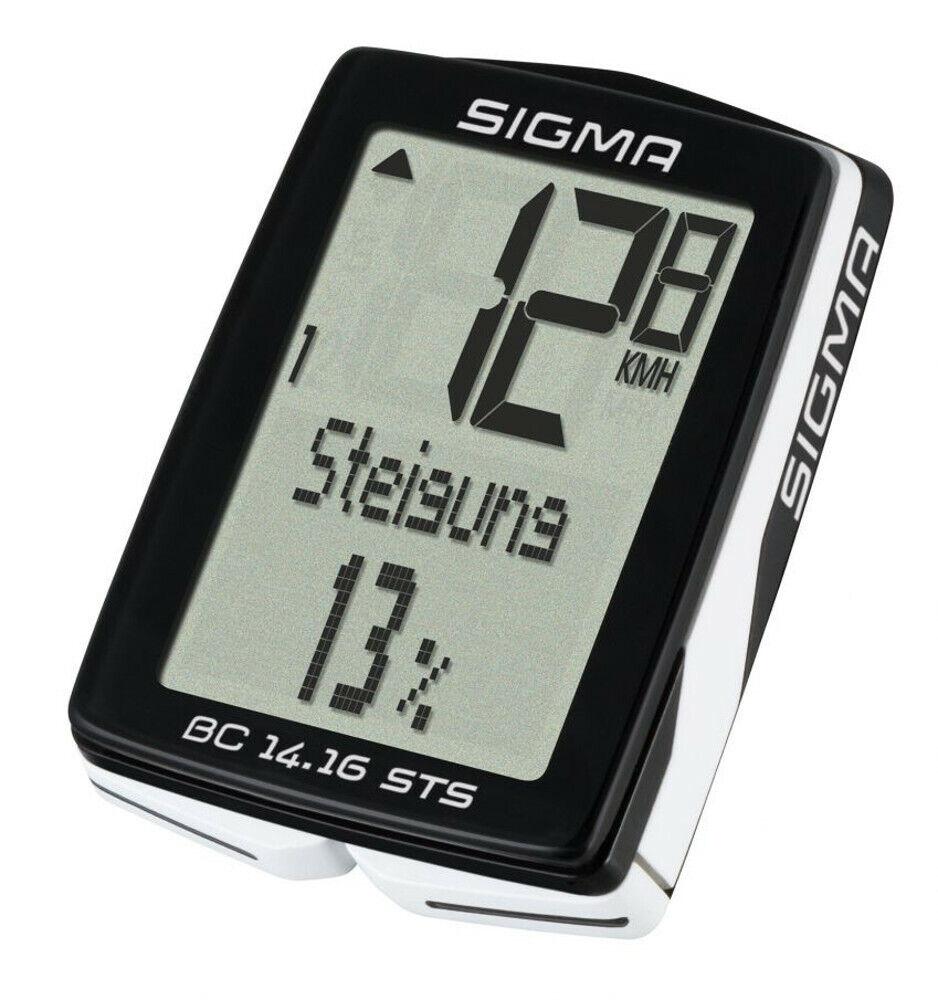 Sigma BC 14.16 Sts Radio Compteur de Vélo 01417 Vitesse Ordinateur Altimétrie