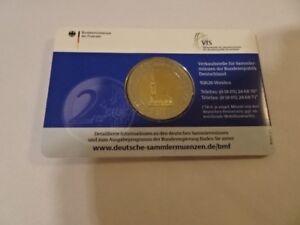 Deutschland 2 Euro Gedenkmünze 2008 Michel Hamburg J Coincard