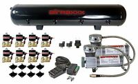 Air Compressors 400 Pewter 3/8 Valves Black 9 Switch Tank Air Ride Suspension