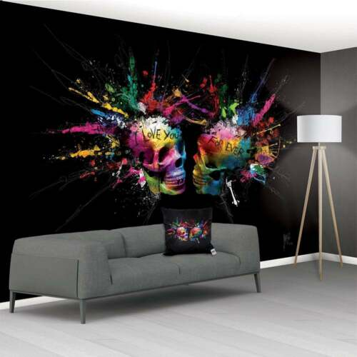 PATRICE MURCIANO NON WOVEN PASTE THE WALL XXL WALL MURAL 3.66 X 2.53M SKULLS